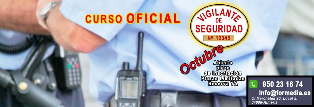 Curso Vigilante de Seguridad en Octubre Almeria